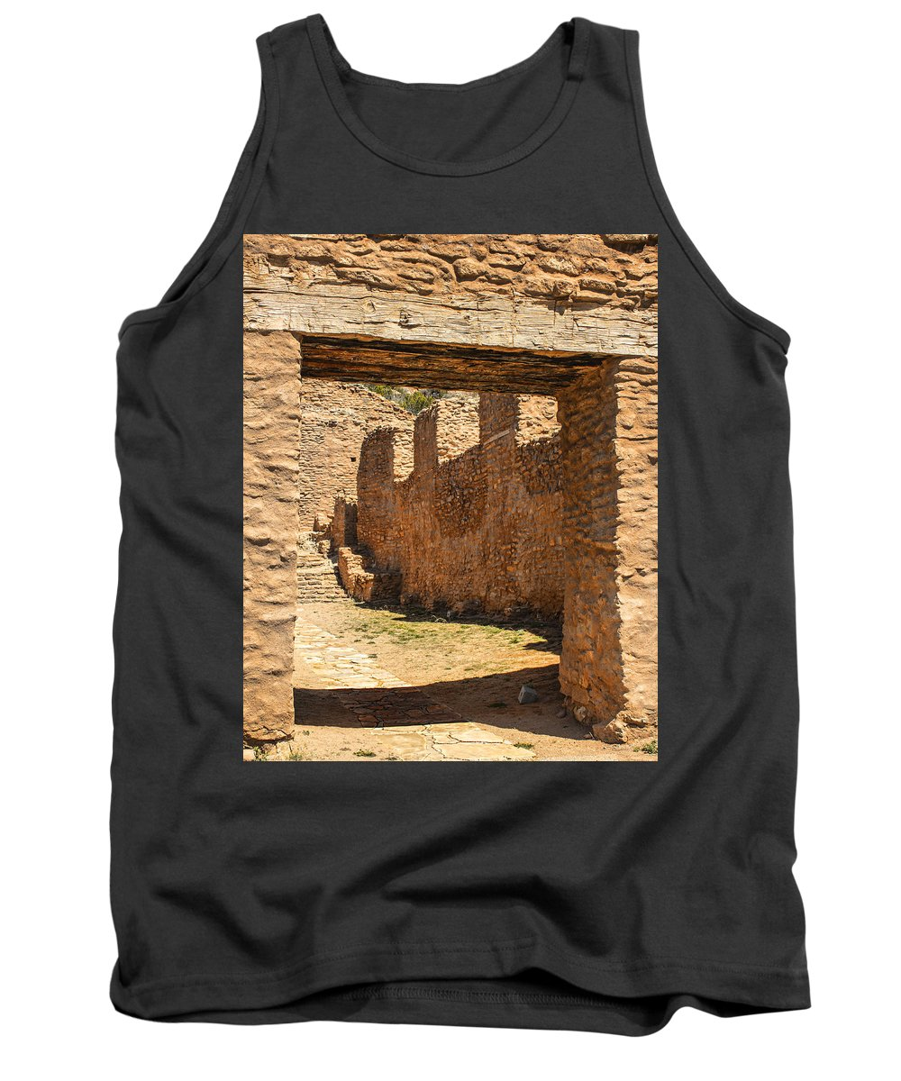 Southwest Tank Top featuring the photograph Fort Jemez National Park Church Entrance by Brian King