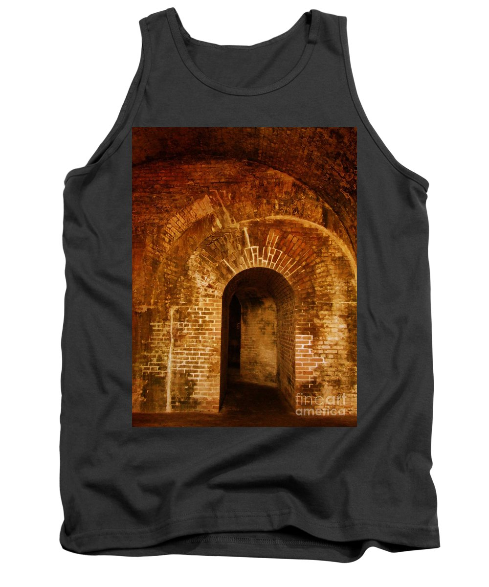 National Tank Top featuring the photograph Fort Pickens by Andrea Anderegg