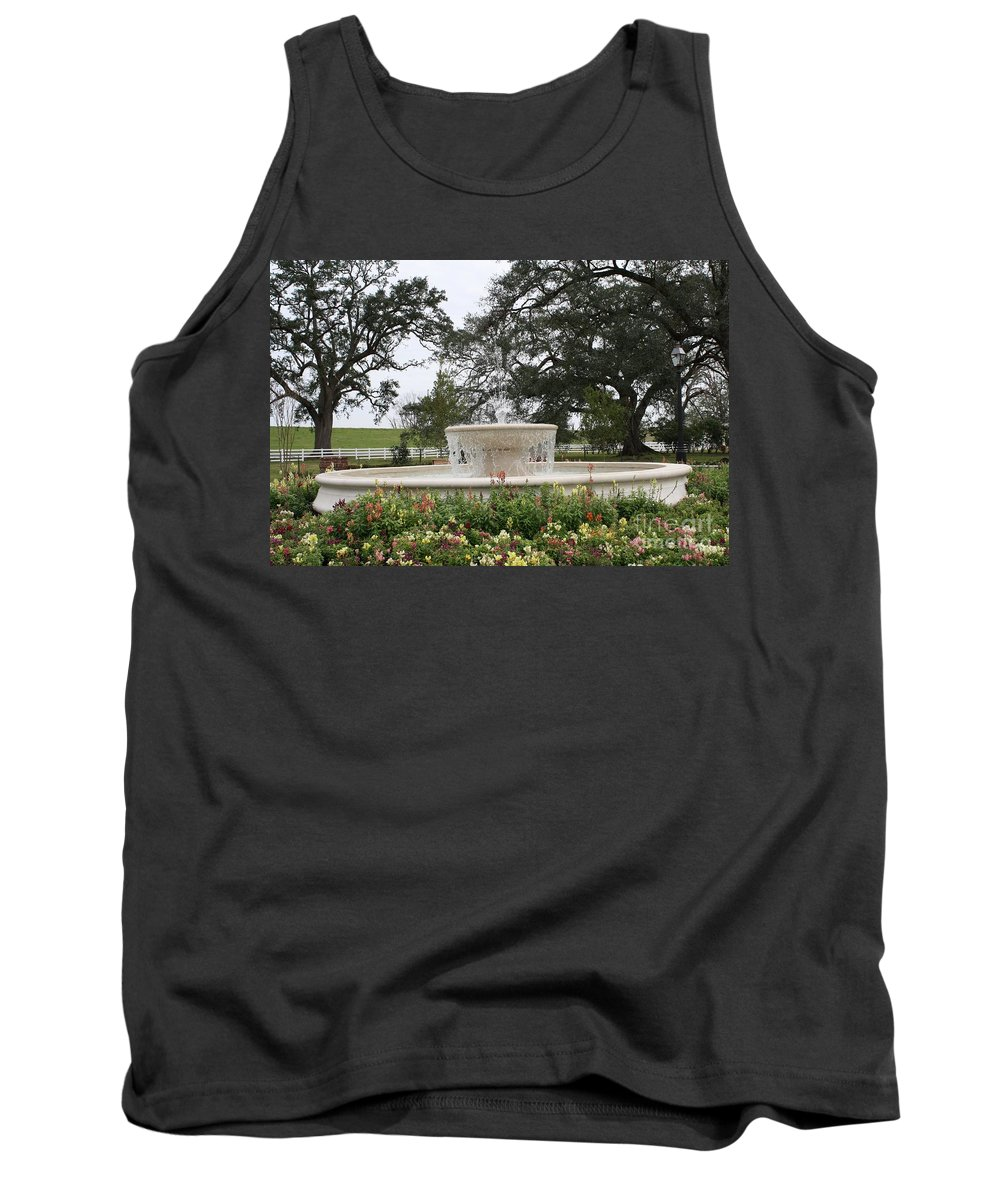 Fountains Tank Top featuring the photograph Fountain At Nottoway by John W Smith III