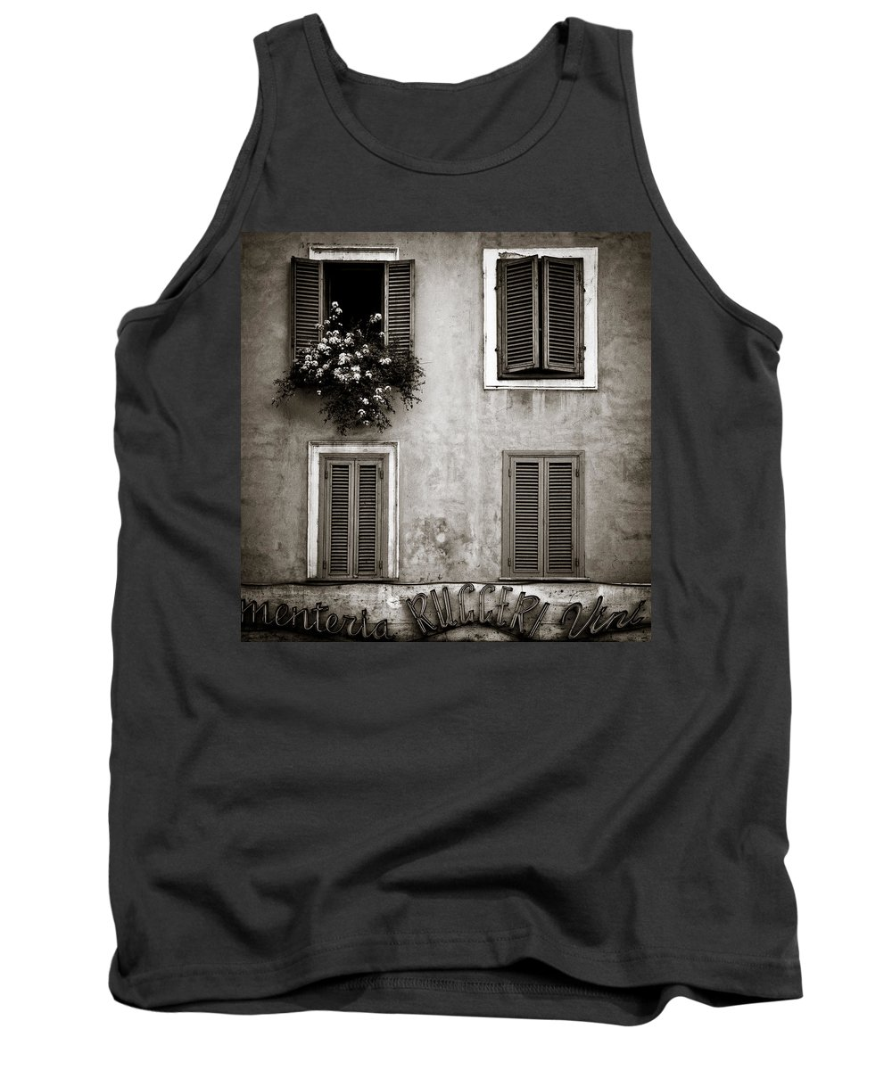 Rome Tank Top featuring the photograph Four Windows by Dave Bowman