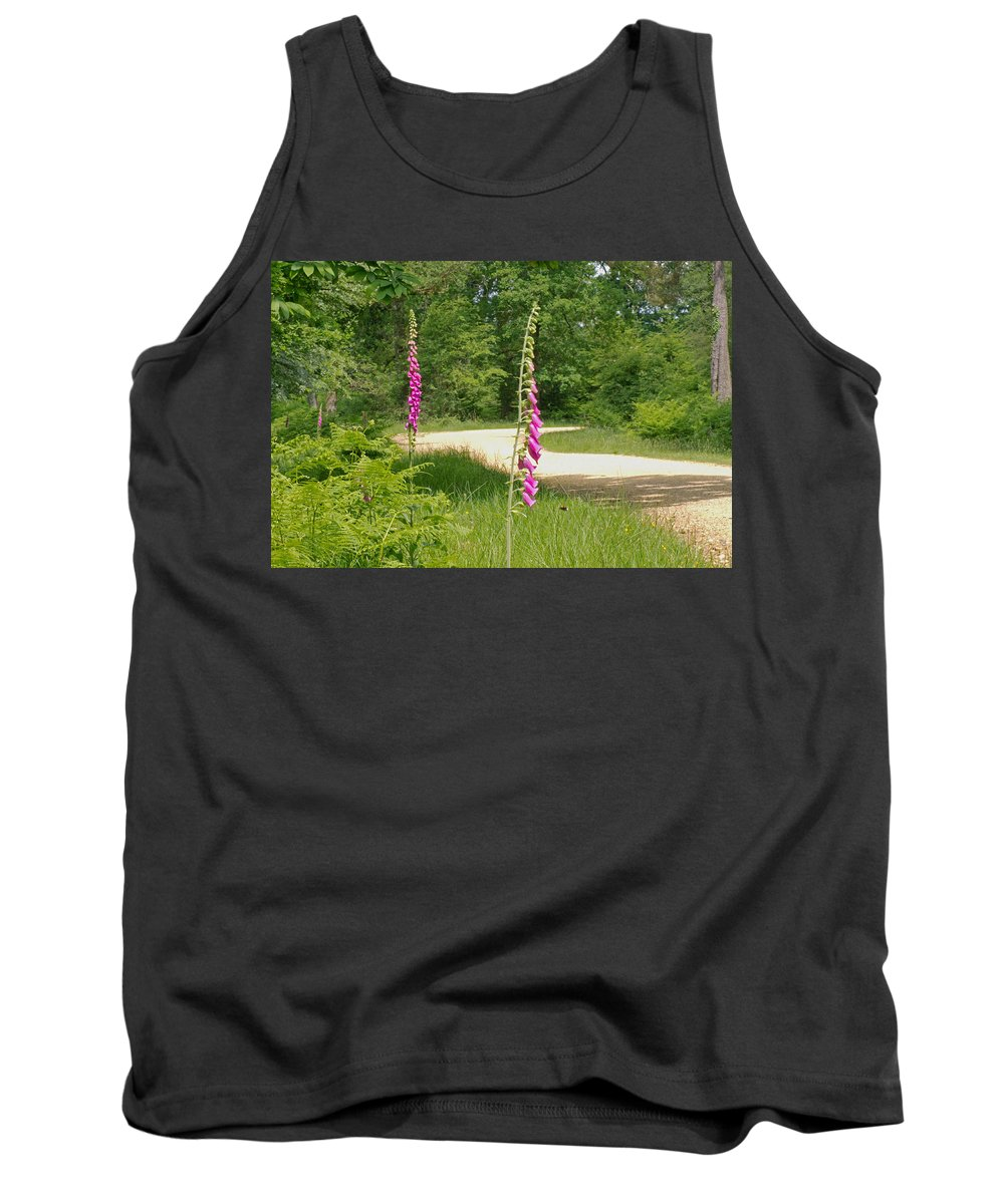 Foxgloves Tank Top featuring the photograph Foxgloves In New Forest by Tony Murtagh