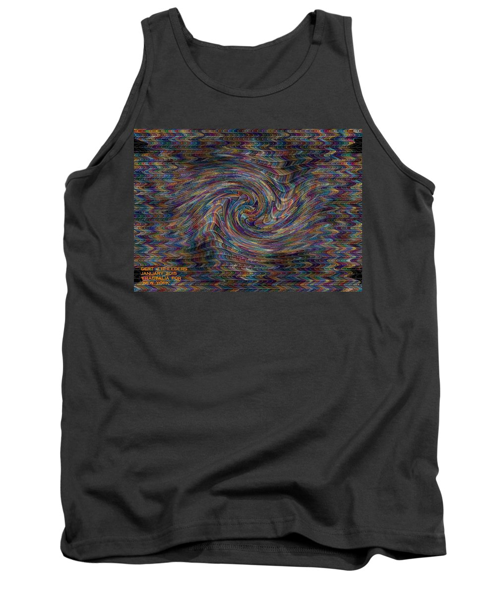 Landscape Tank Top featuring the painting Fractalia For New York H A by Gert J Rheeders