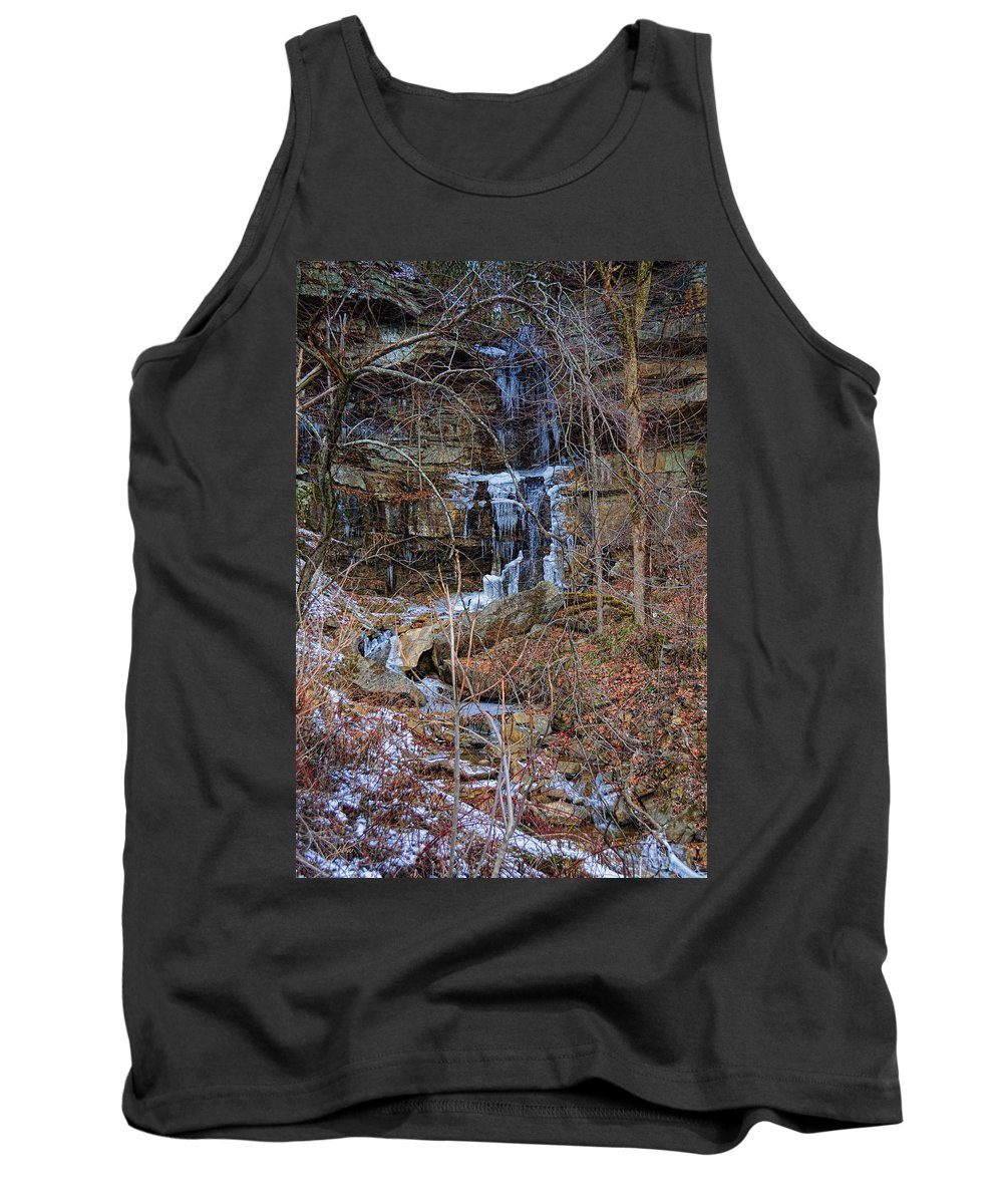 Nature Tank Top featuring the photograph Fragility Of Ice by Paulette B Wright