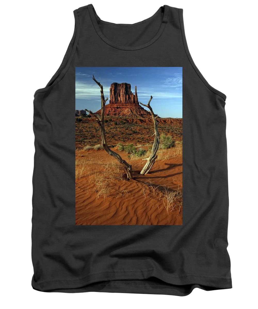 Left Mitten Tank Top featuring the photograph Framing Left Mitten by Dave Mills