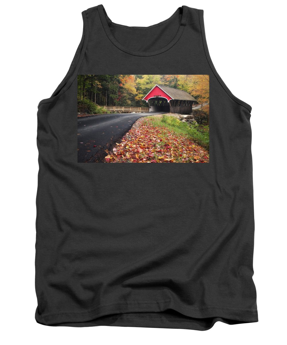 Hampshire Tank Top featuring the photograph Franconia Notch State Park by Linda D Lester