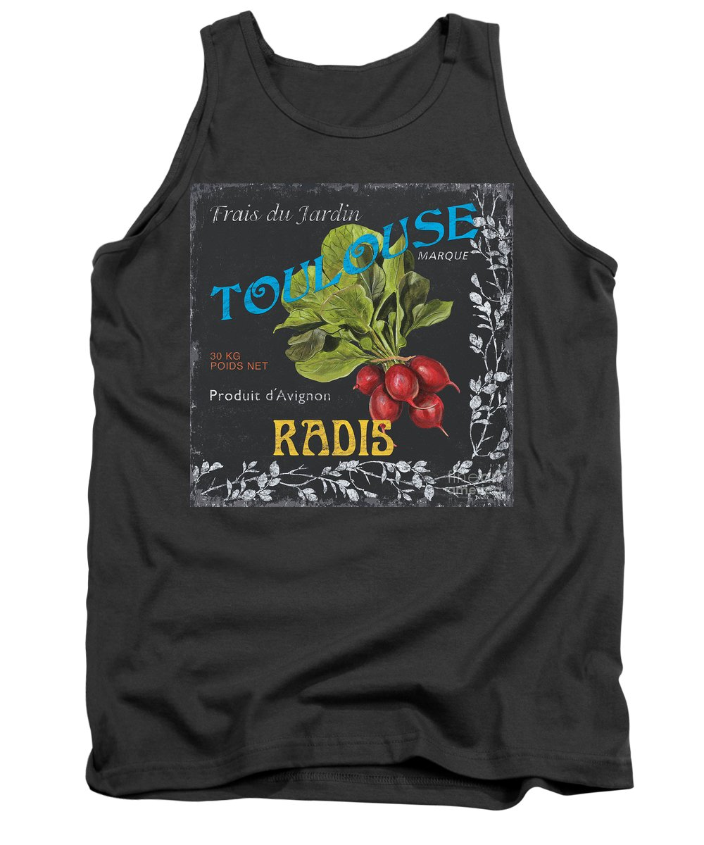 Produce Tank Top featuring the painting French Veggie Labels 3 by Debbie DeWitt
