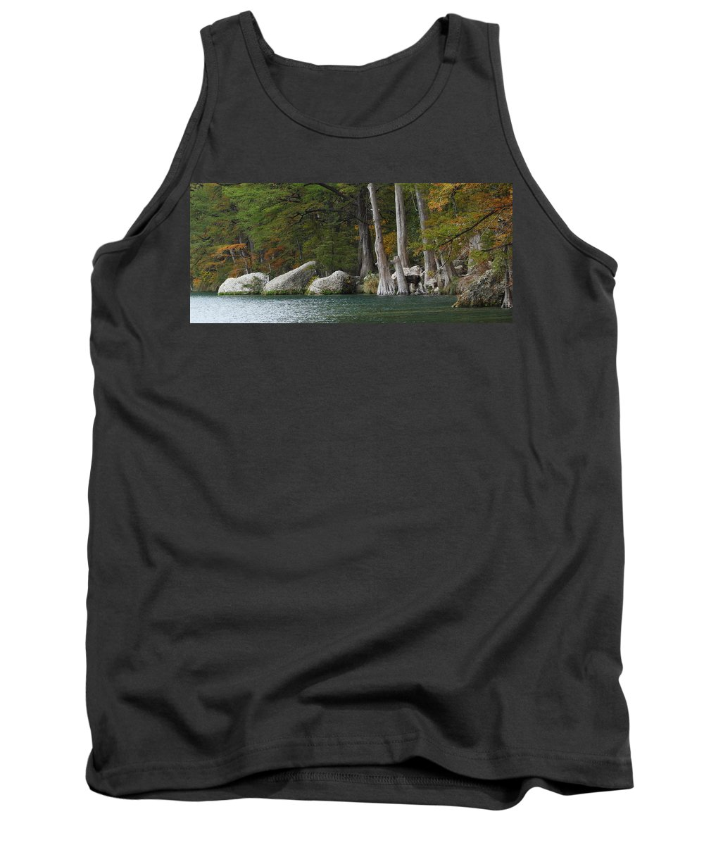 Fall Tank Top featuring the photograph Frio River 2 by Andrew McInnes