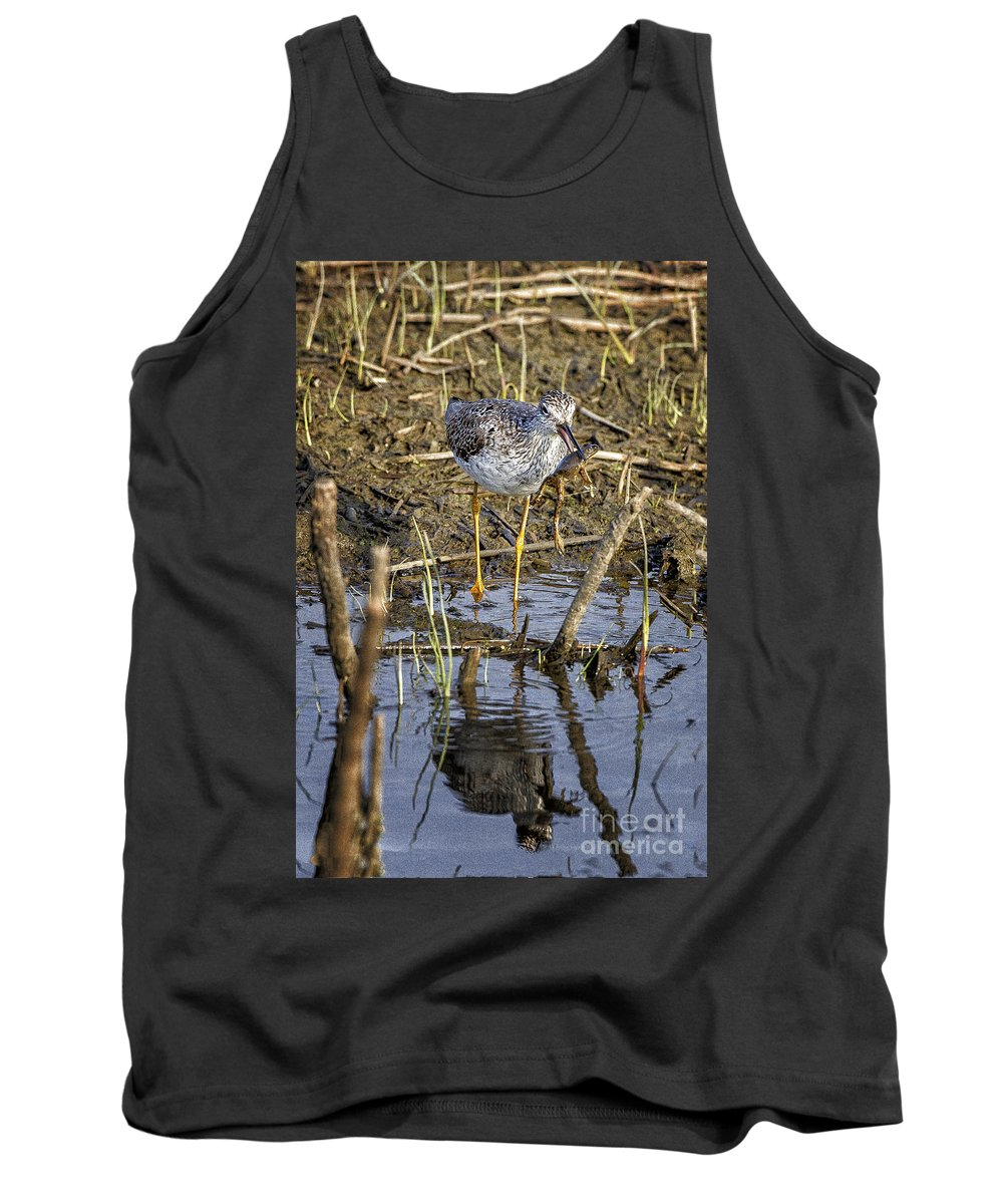 2012 Tank Top featuring the photograph Frog For Lunch by Ronald Lutz