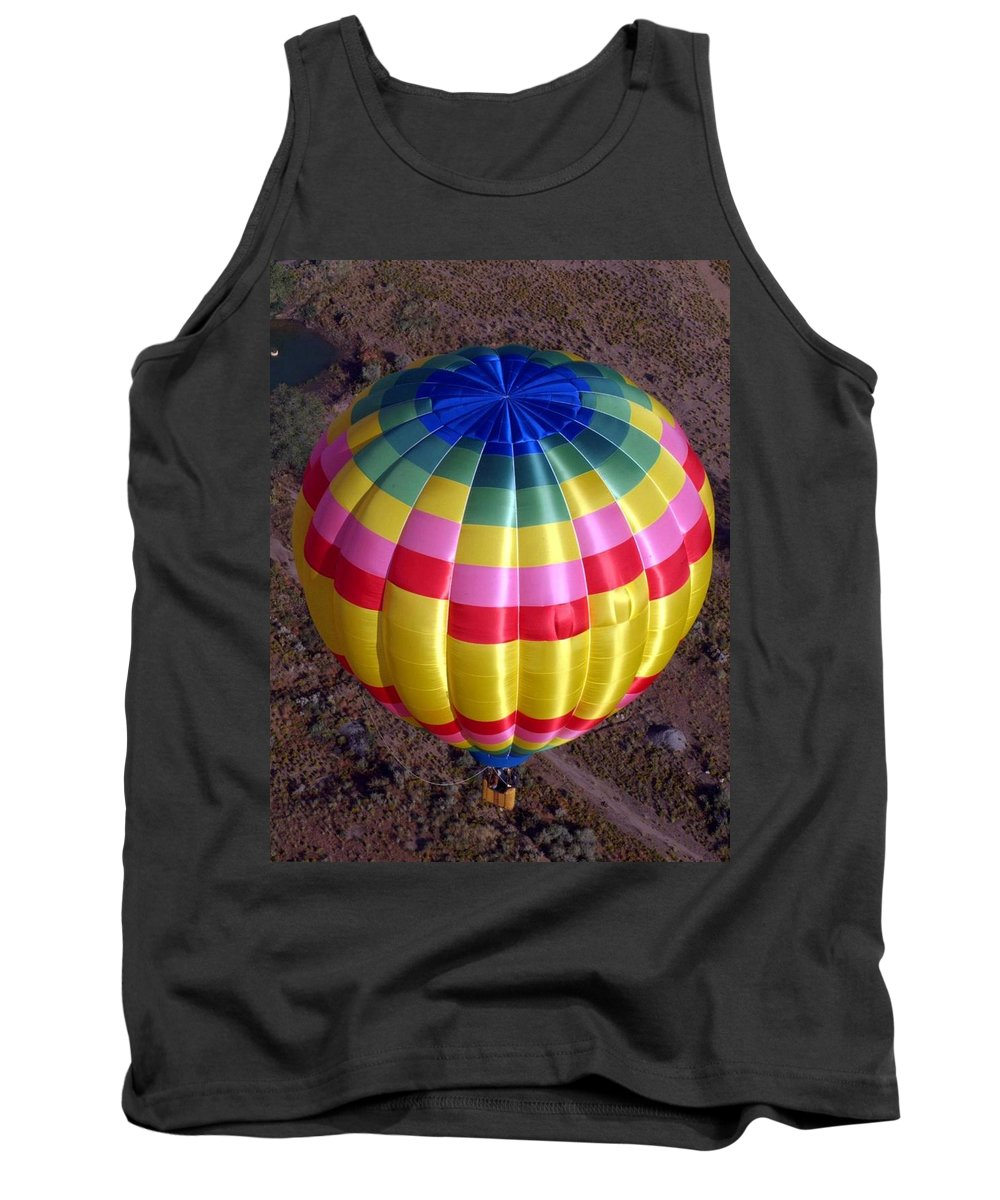 Hot Air Balloon Tank Top featuring the photograph From Above by Mary Rogers
