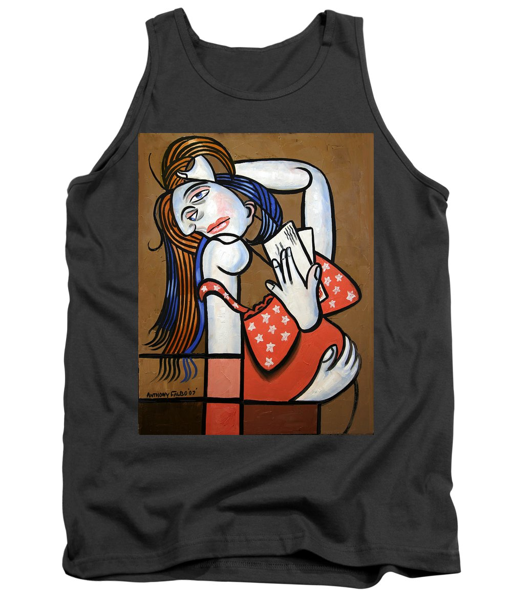 From Iraq With Love Tank Top featuring the painting From Iraq With Love by Anthony Falbo