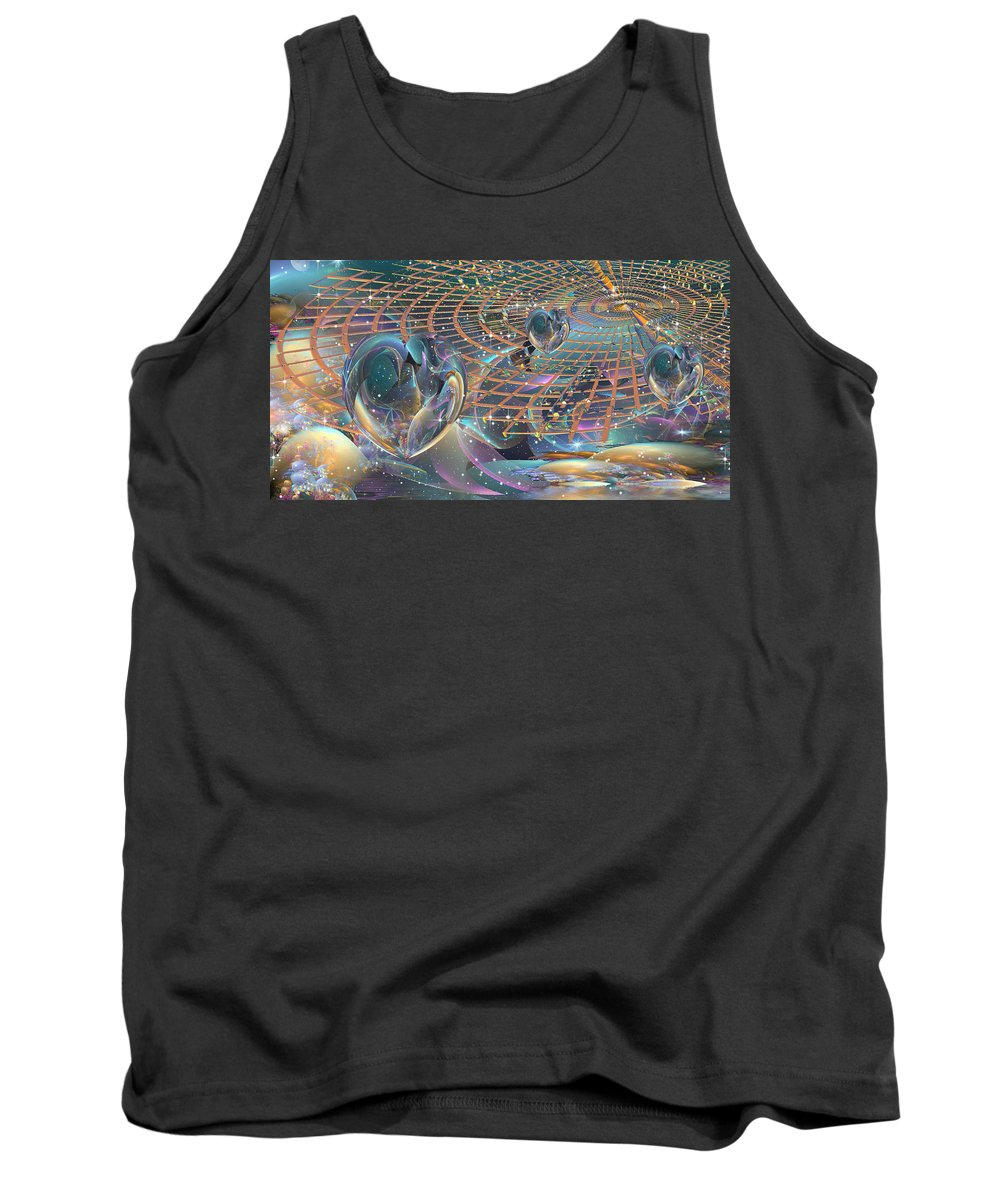 Heart Tank Top featuring the digital art From The Heart by Phil Sadler