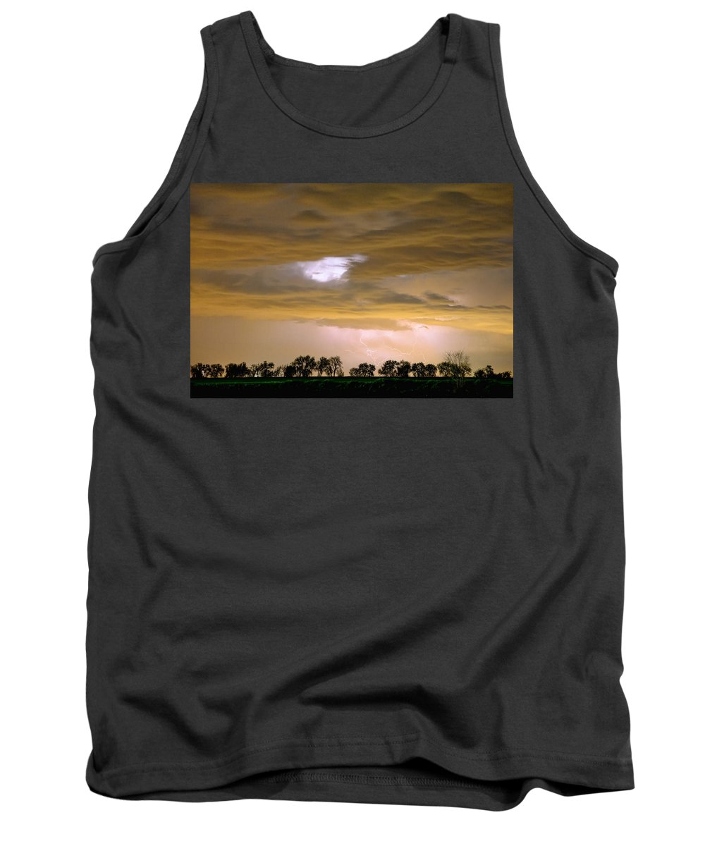 Lightning Tank Top featuring the photograph Front Row Seat For The Storm by James BO Insogna