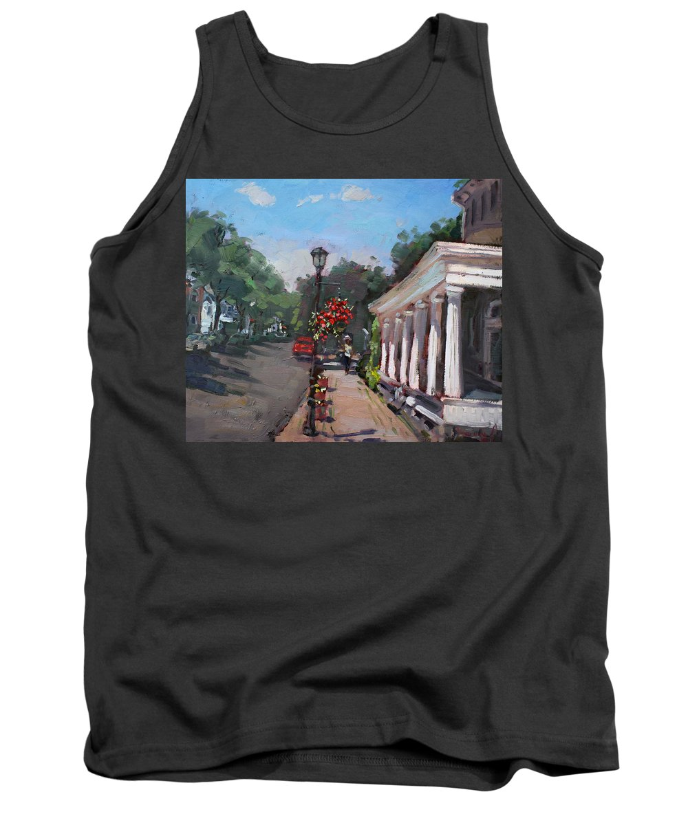 Frontier House Tank Top featuring the painting Frontier House In Lewiston by Ylli Haruni