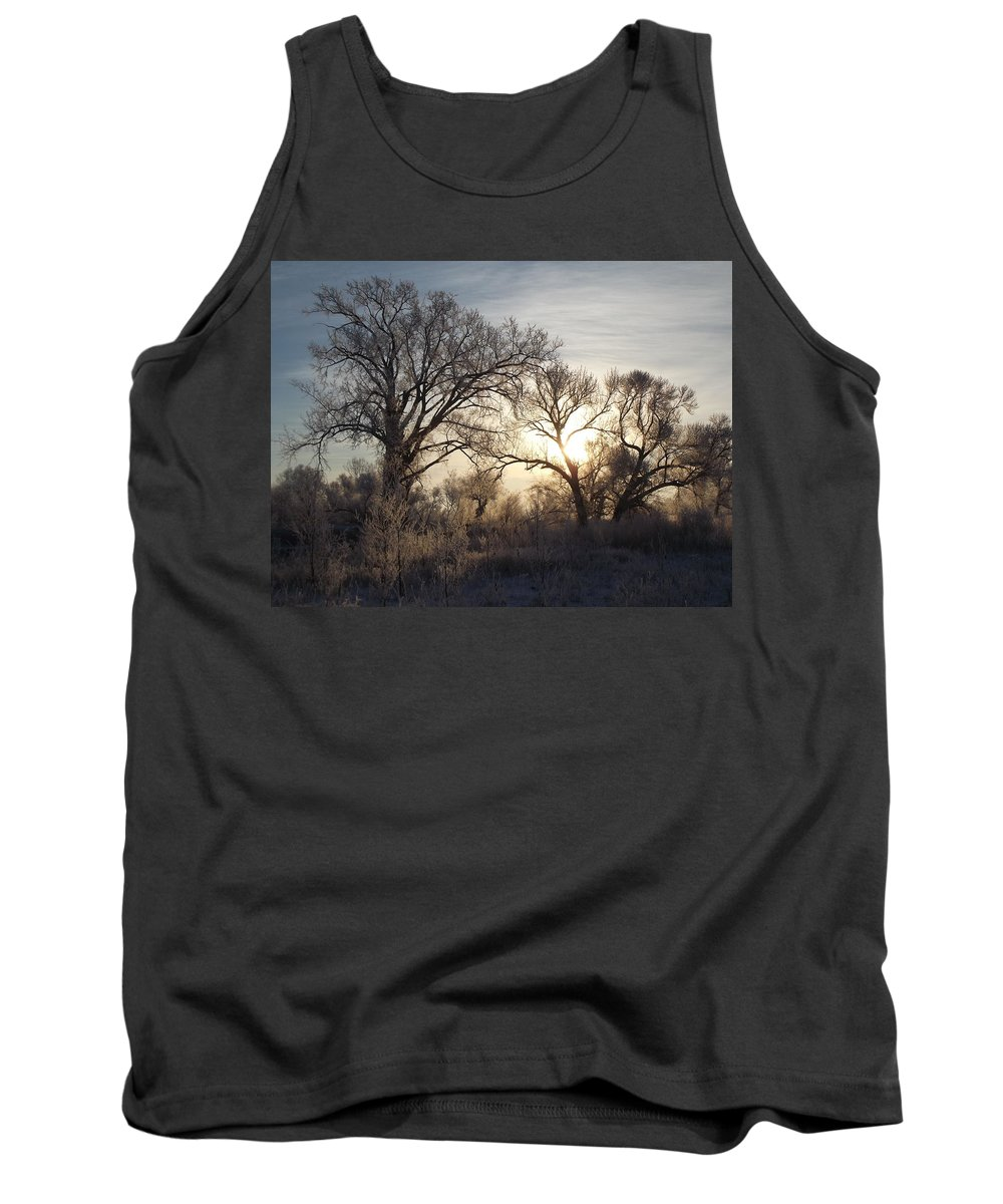 Frost Tank Top featuring the photograph Frosty Morn 4 by Bonfire Photography