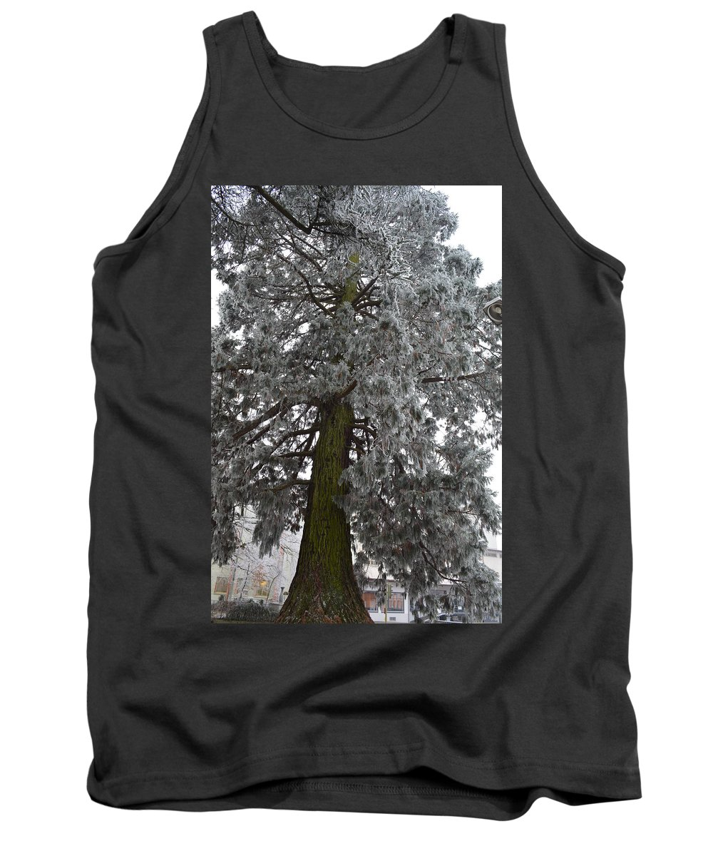 Nature Tank Top featuring the photograph Frozen Tree 2 by Felicia Tica