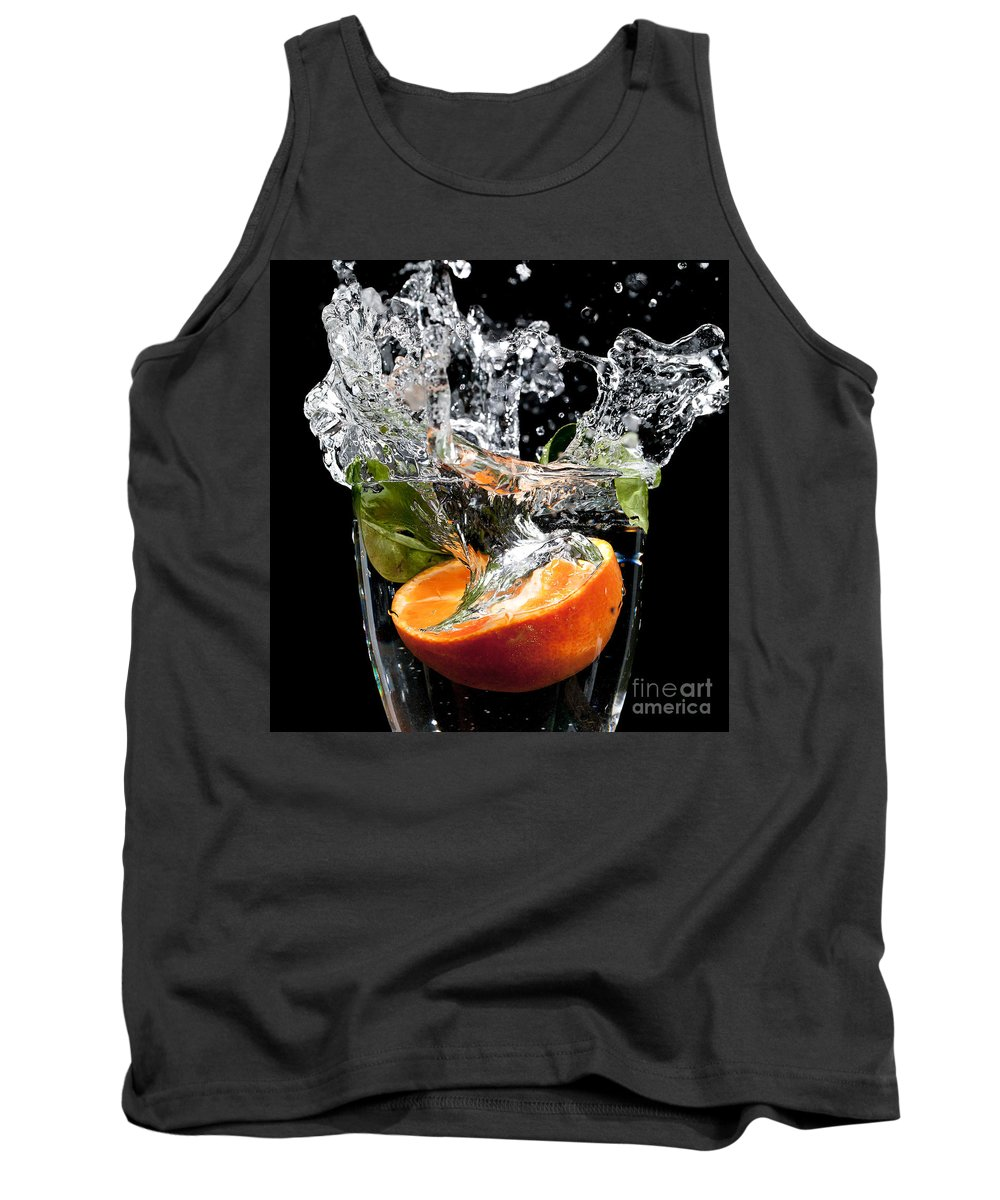 0be961393 Fruit Tank Top featuring the photograph Fruit Drop With Big Splash by Simon  Bratt Photography LRPS