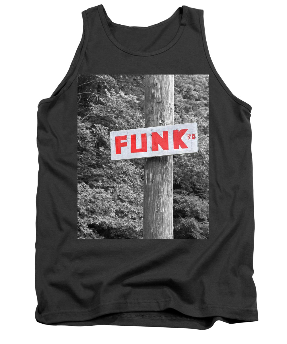 Black White Red Tank Top featuring the photograph Funk Road by Brooke T Ryan