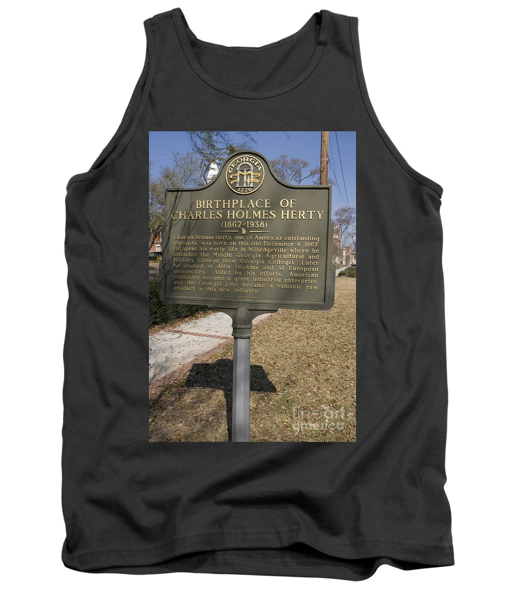 Travel Tank Top featuring the photograph Ga-005-10 Birthplace Of Charles Holmes Herty 1867-1938 by Jason O Watson