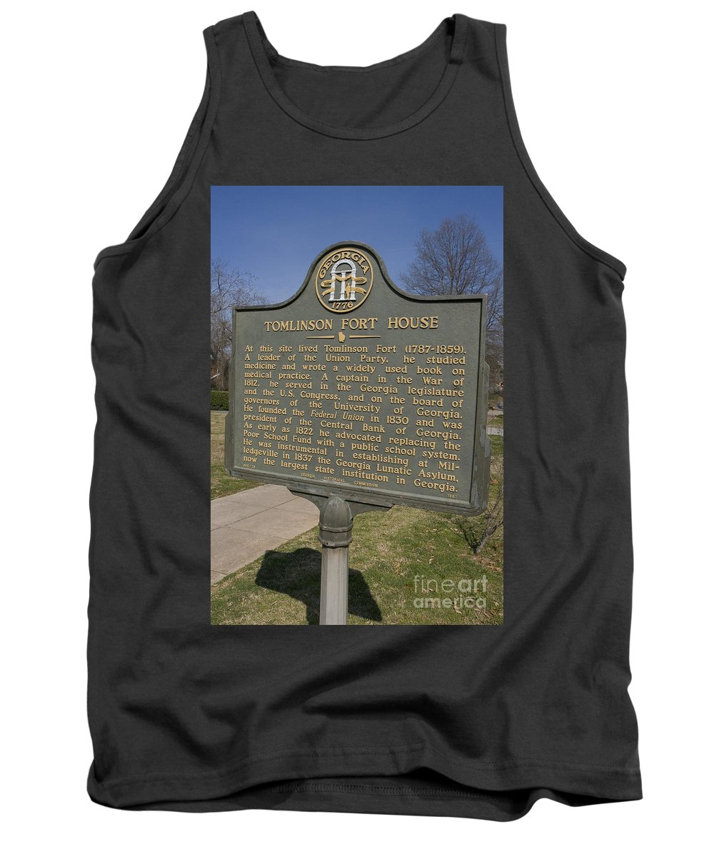 Travel Tank Top featuring the photograph Ga-005-25 Tomlinson Fort House by Jason O Watson