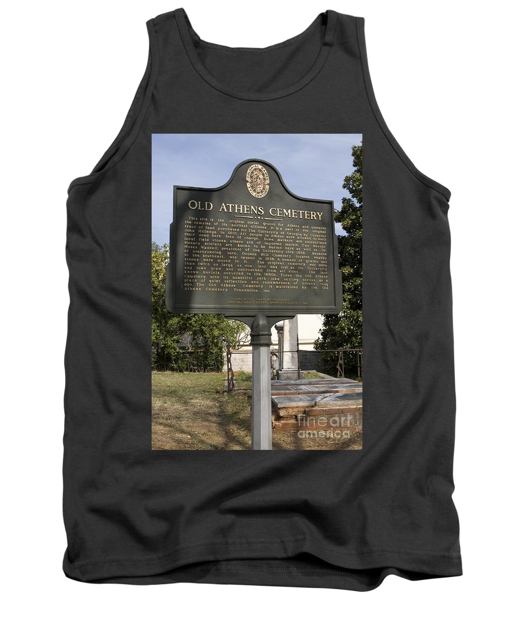 Travel Tank Top featuring the photograph Ga-029-101 Old Athens Cemetery by Jason O Watson