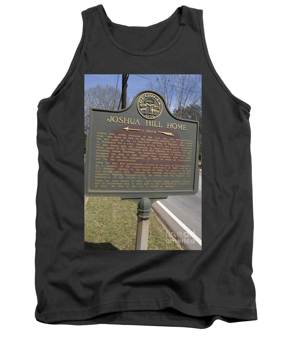 Travel Tank Top featuring the photograph Ga-104-1 Joshua Hill Home by Jason O Watson