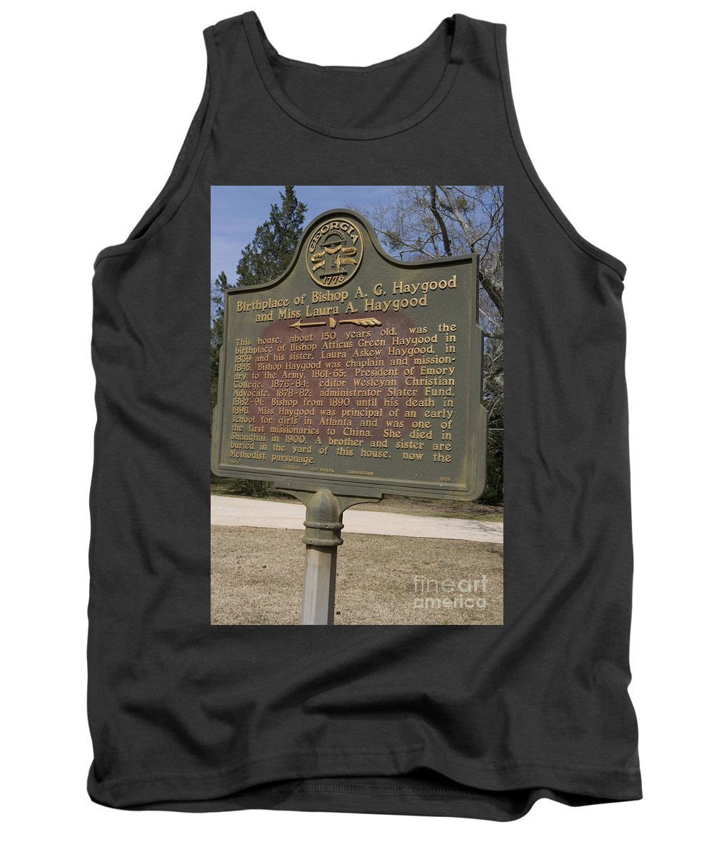 Travel Tank Top featuring the photograph Ga-108-2 Birthplace Of Bishop A. G. Haygood And Miss Laura A. Haygood by Jason O Watson