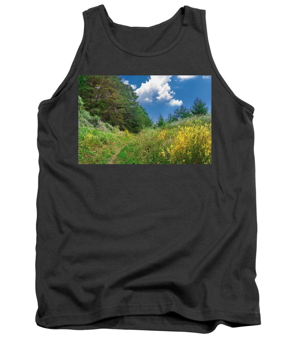 Cumberland Gap National Historical Park Tank Top featuring the photograph Gap Trail by Mary Almond