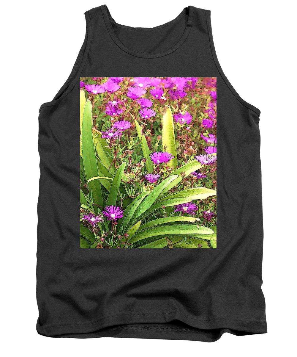 Dan Sabin Tank Top featuring the photograph Garden Flowers by Dan Sabin