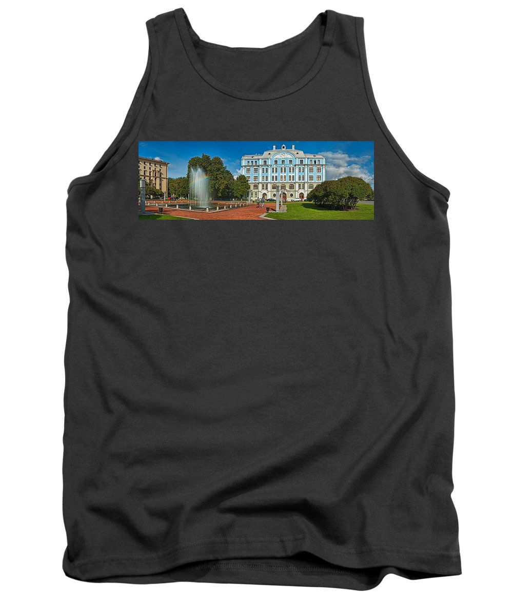 Photography Tank Top featuring the photograph Garden In Front Of An Education by Panoramic Images