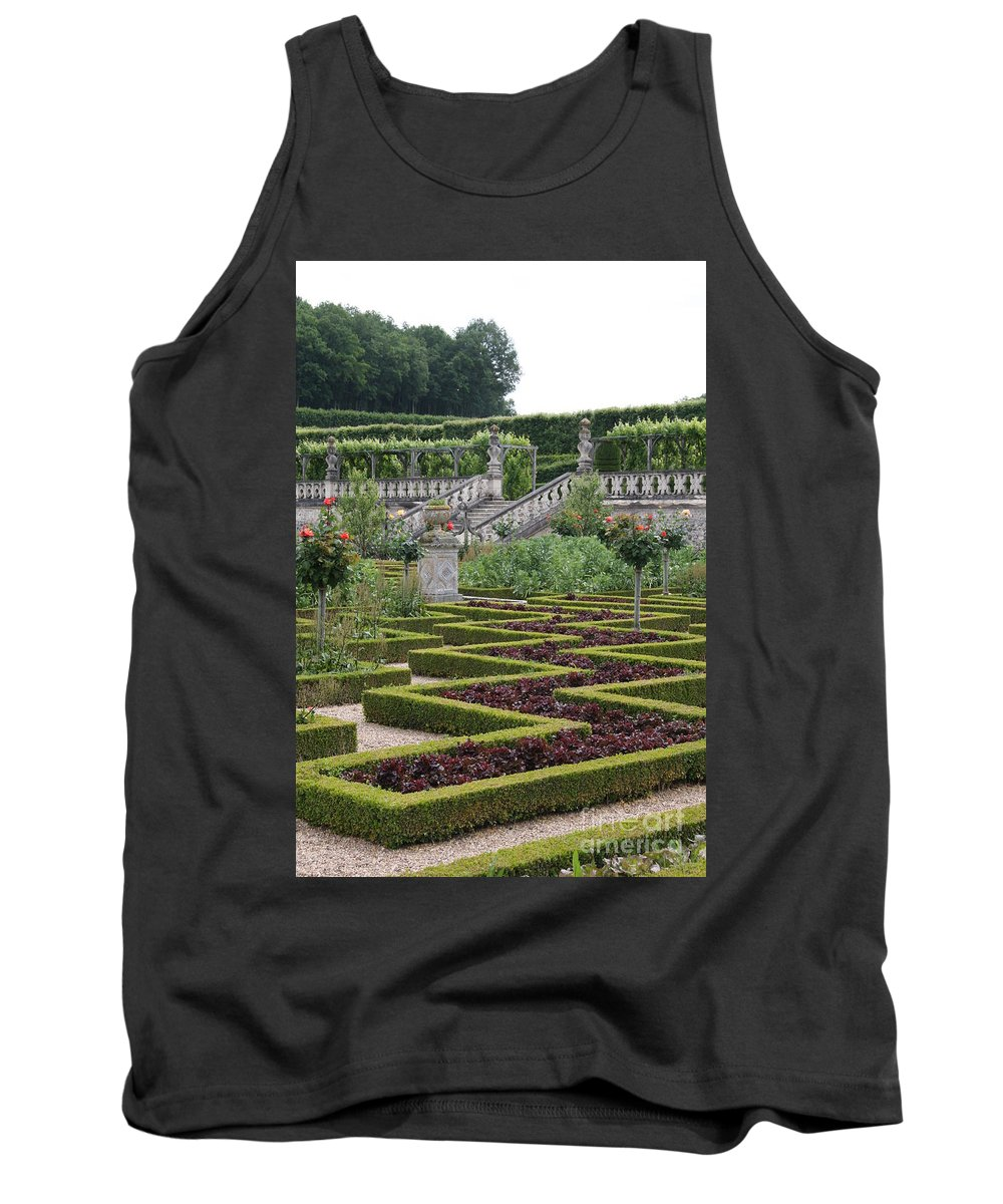 Cabbage Tank Top featuring the photograph Garden Symmetry Chateau Villandry by Christiane Schulze Art And Photography