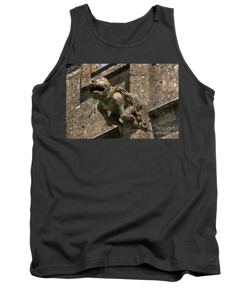 Gargoyle Tank Top featuring the photograph Gargoyle On The Church Of St Mary At Sudeley Castle by Louise Heusinkveld