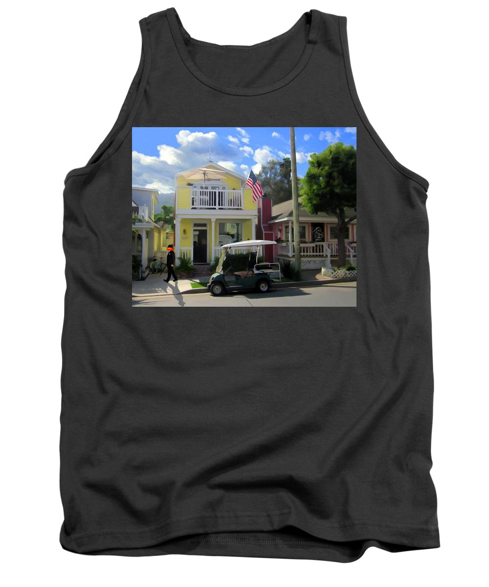 Catalina Tank Top featuring the painting Gary Baldie Gets Around by Snake Jagger