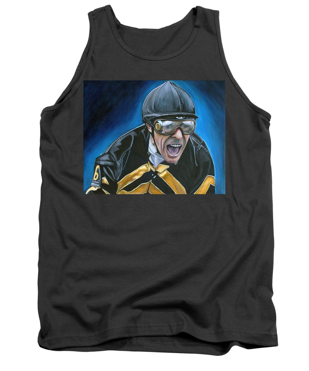 Jockey Tank Top featuring the painting Gary Stevens by Kate Fortin