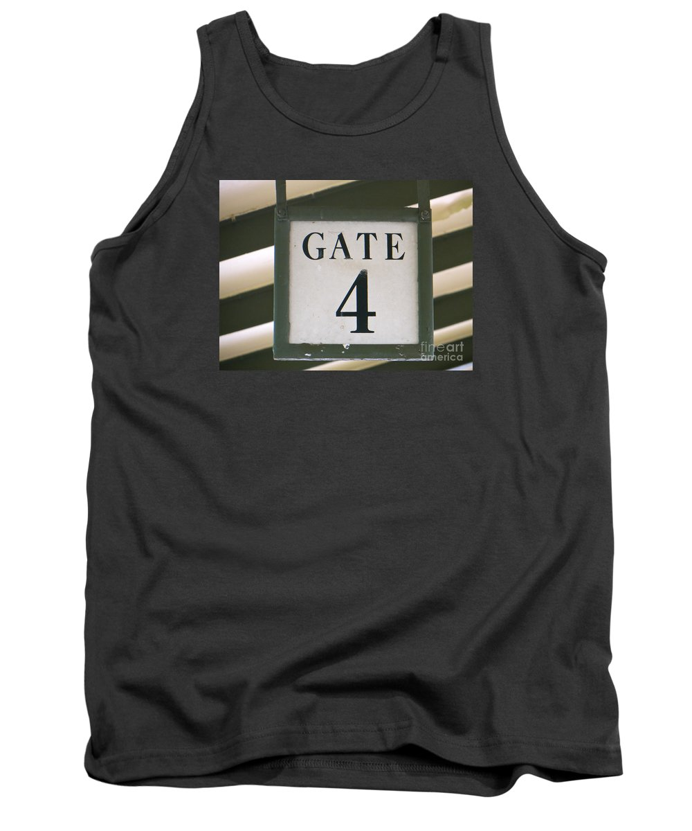 Gate #4 Tank Top featuring the photograph Gate #4 by Joy Hardee