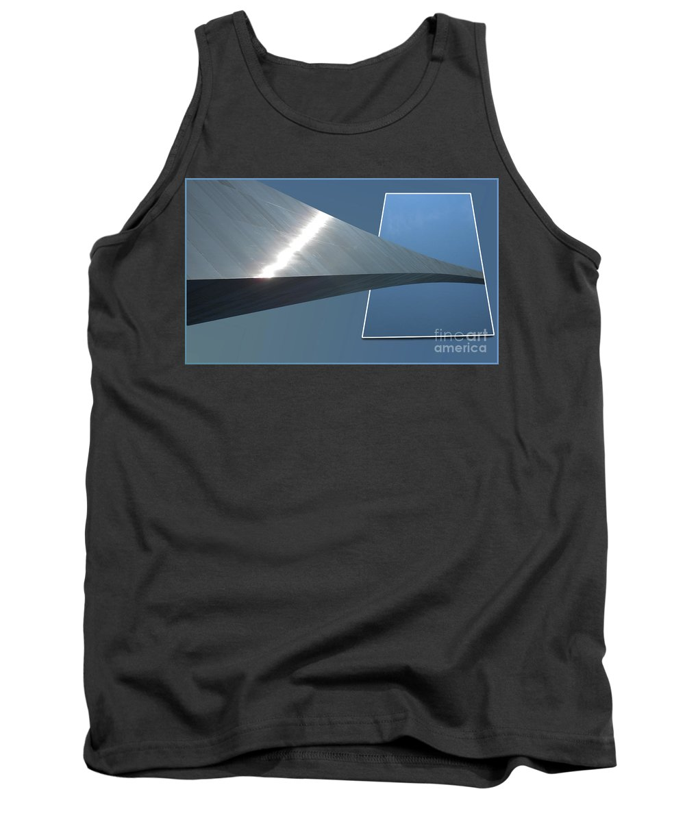 Jefferson National Expansion Memorial Tank Top featuring the photograph Gateway Arch St Louis 05 by Thomas Woolworth