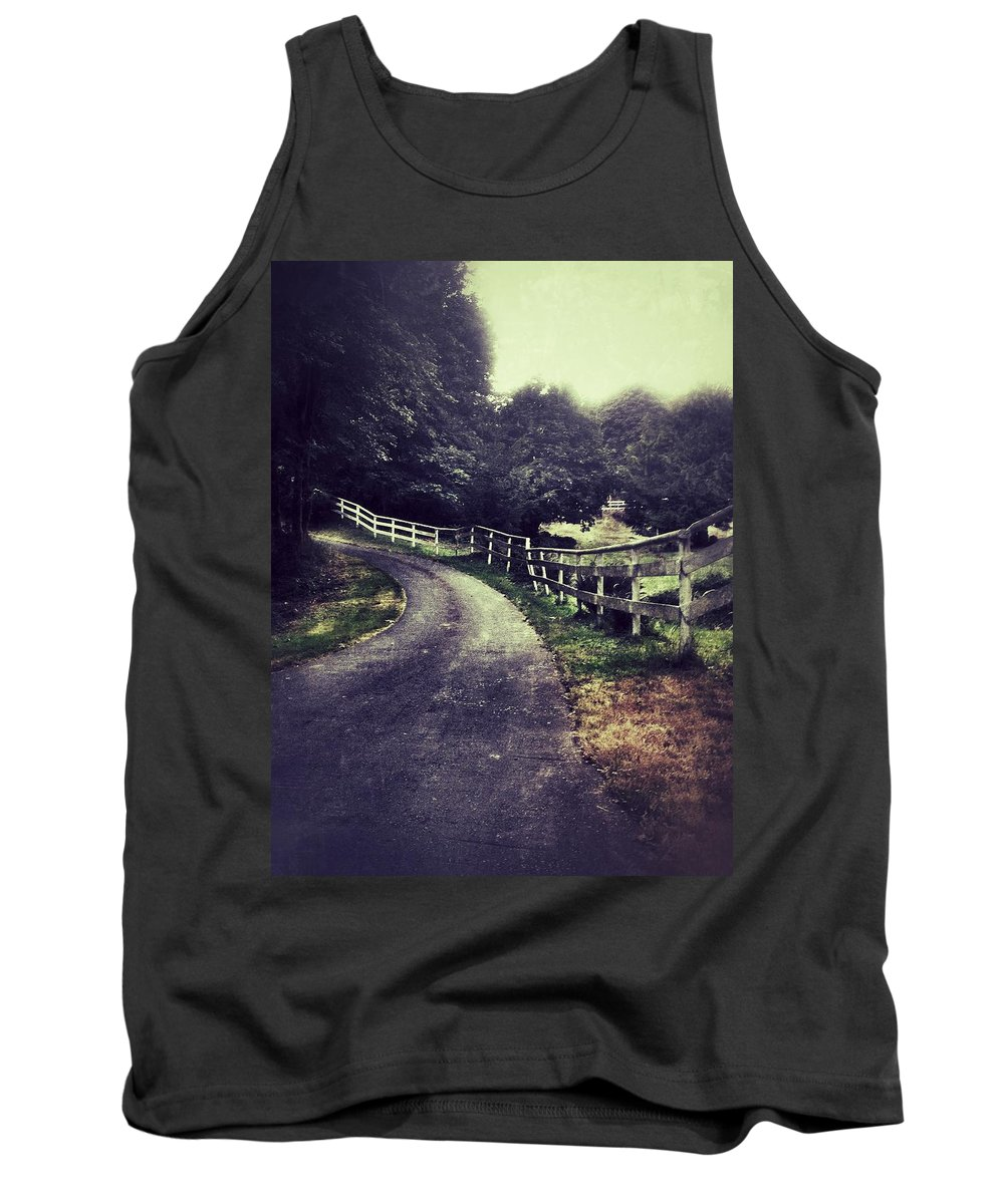 Fence Tank Top featuring the photograph Gertrudes Ranch by The Artist Project