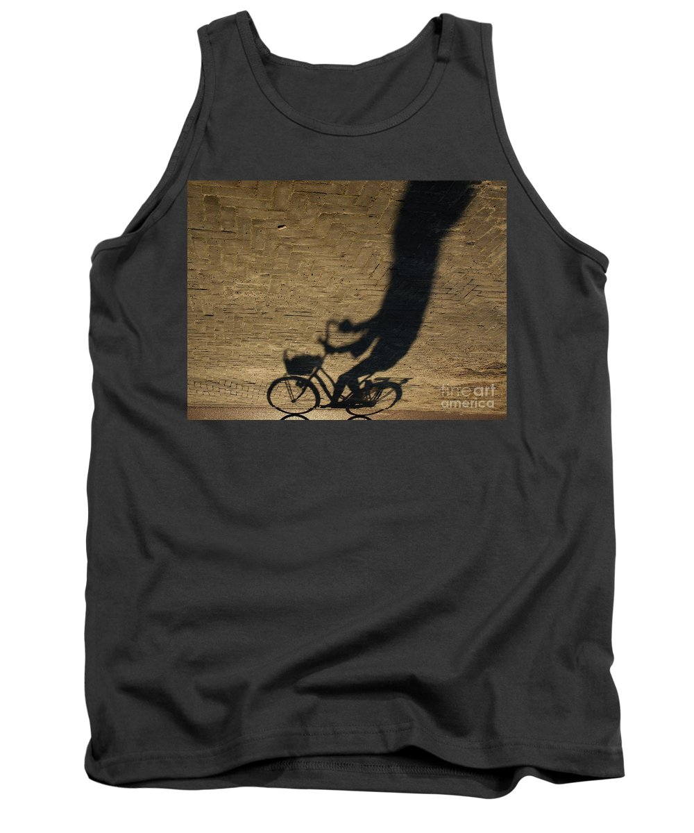 Bike Tank Top featuring the photograph Ghost Rider by Brothers Beerens