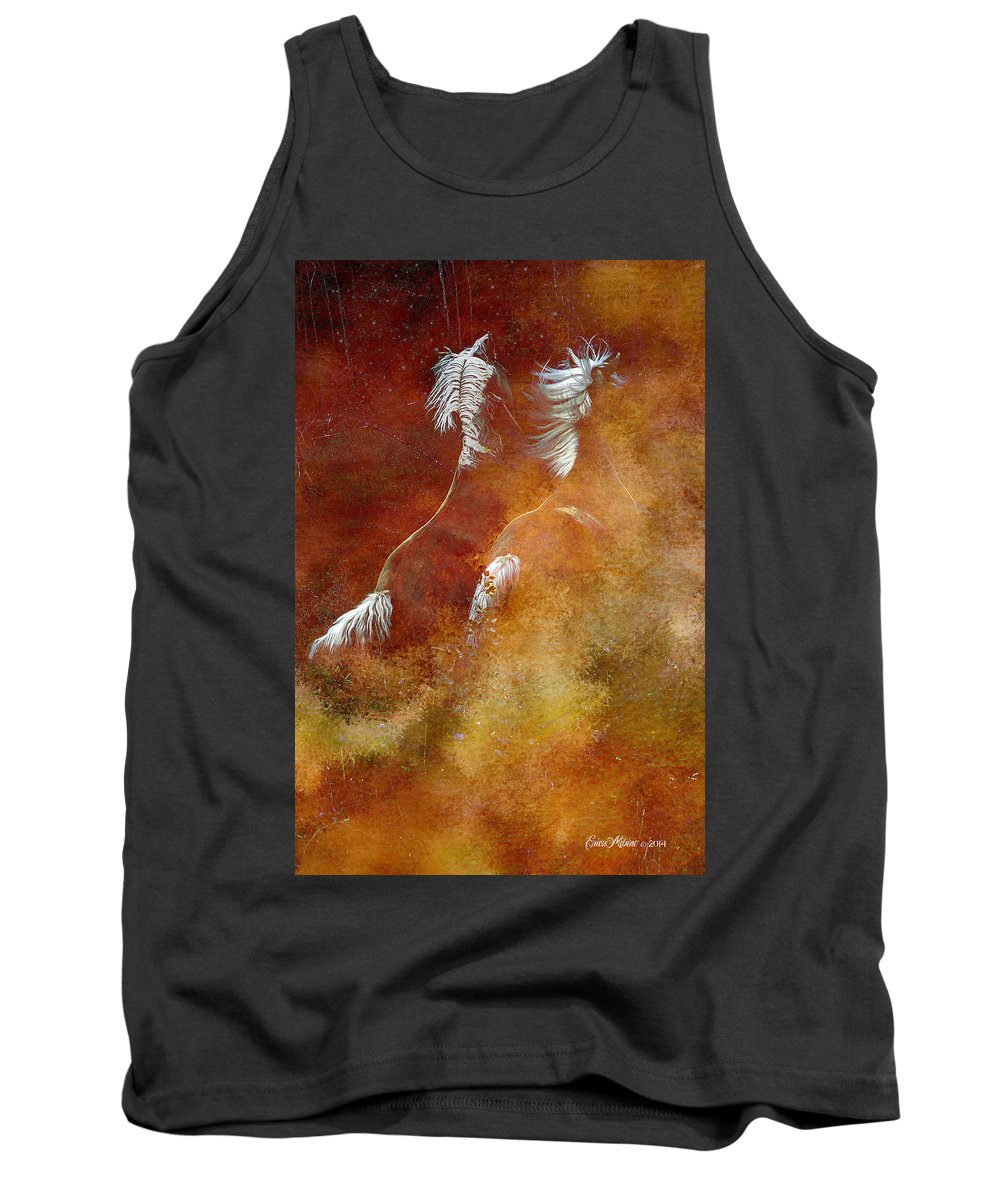 Horse Tank Top featuring the photograph Ghostly Through Fog by Ericamaxine Price