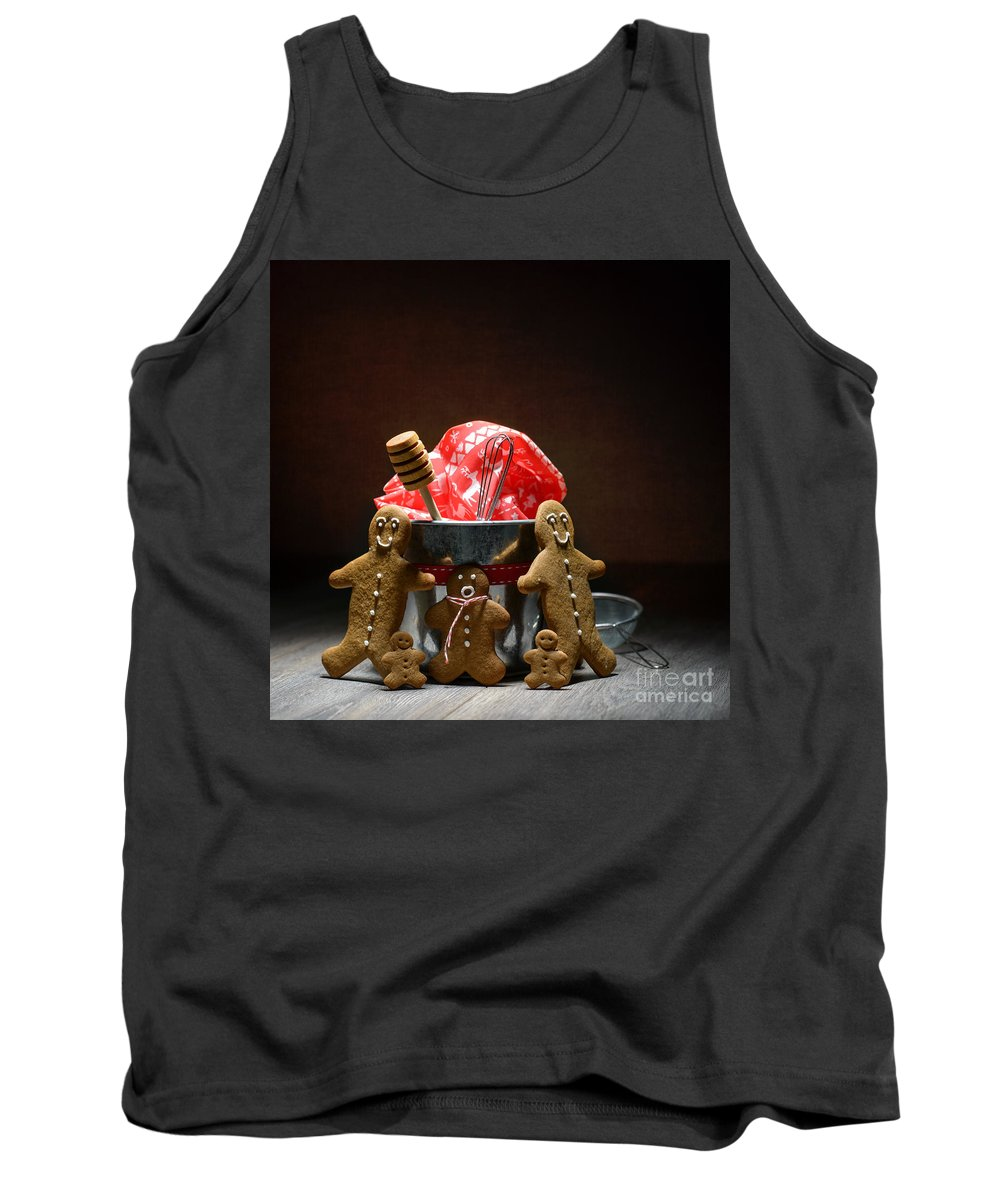 Low Key Tank Top featuring the photograph Gingerbread Family by Amanda Elwell