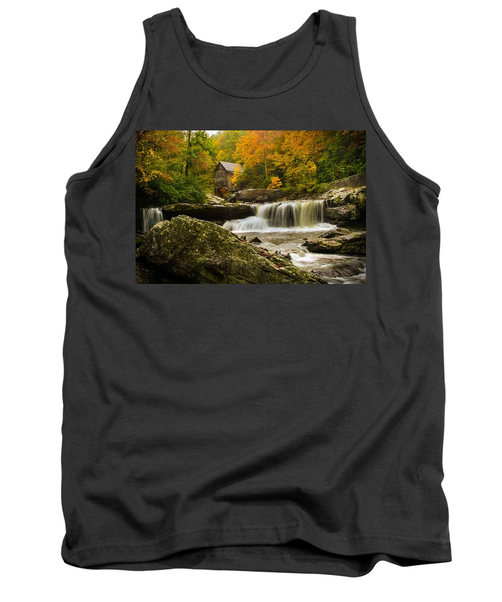 Glade Creek Tank Top featuring the photograph Glade Creek Grist Mill by Shane Holsclaw