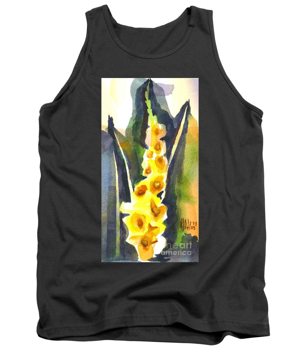 Gladiolas In Wintertime Tank Top featuring the painting Gladiolas In Wintertime by Kip DeVore