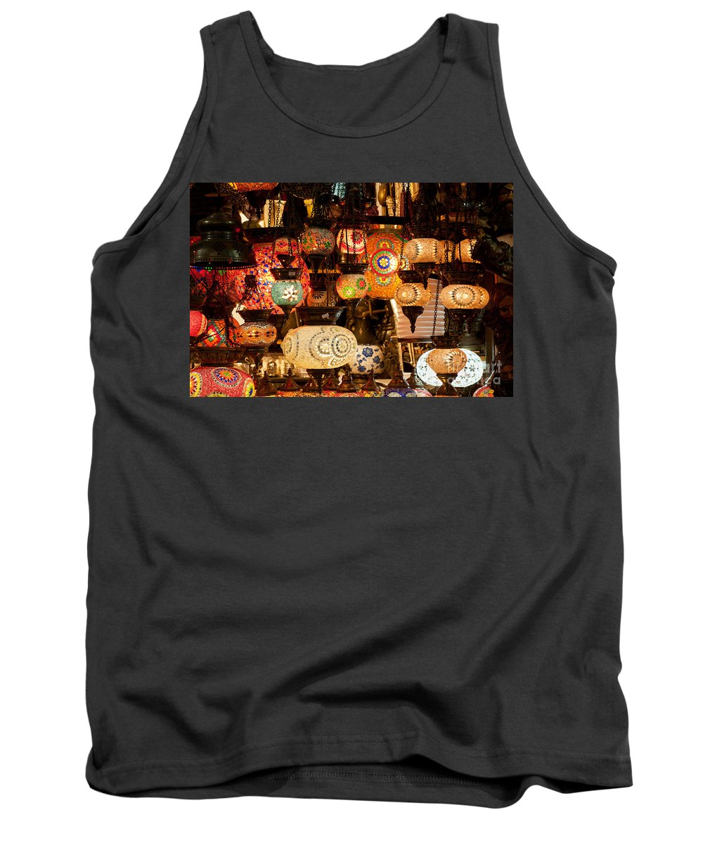 Istanbul Tank Top featuring the photograph Glass Lanterns 09 by Rick Piper Photography