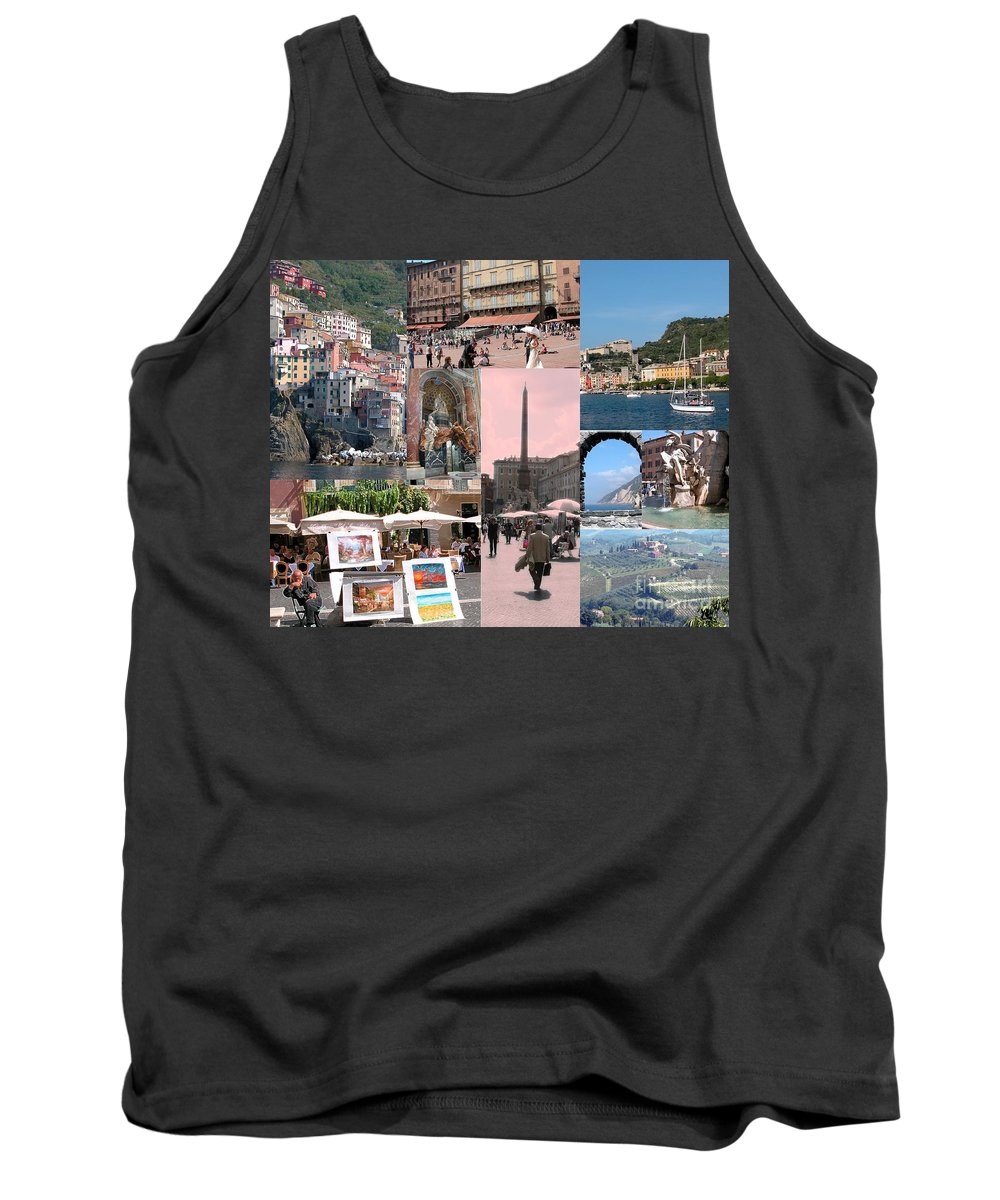 Italy Tank Top featuring the photograph Glimpses Of Italy by Barbie Corbett-Newmin
