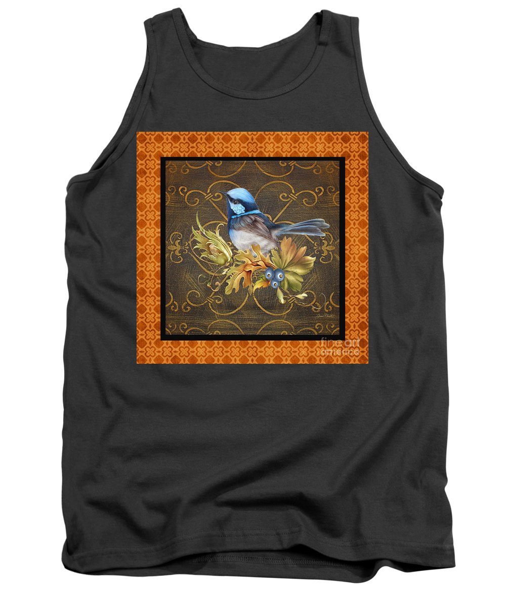 Jean Plout Tank Top featuring the painting Glorious Birds-b2 by Jean Plout