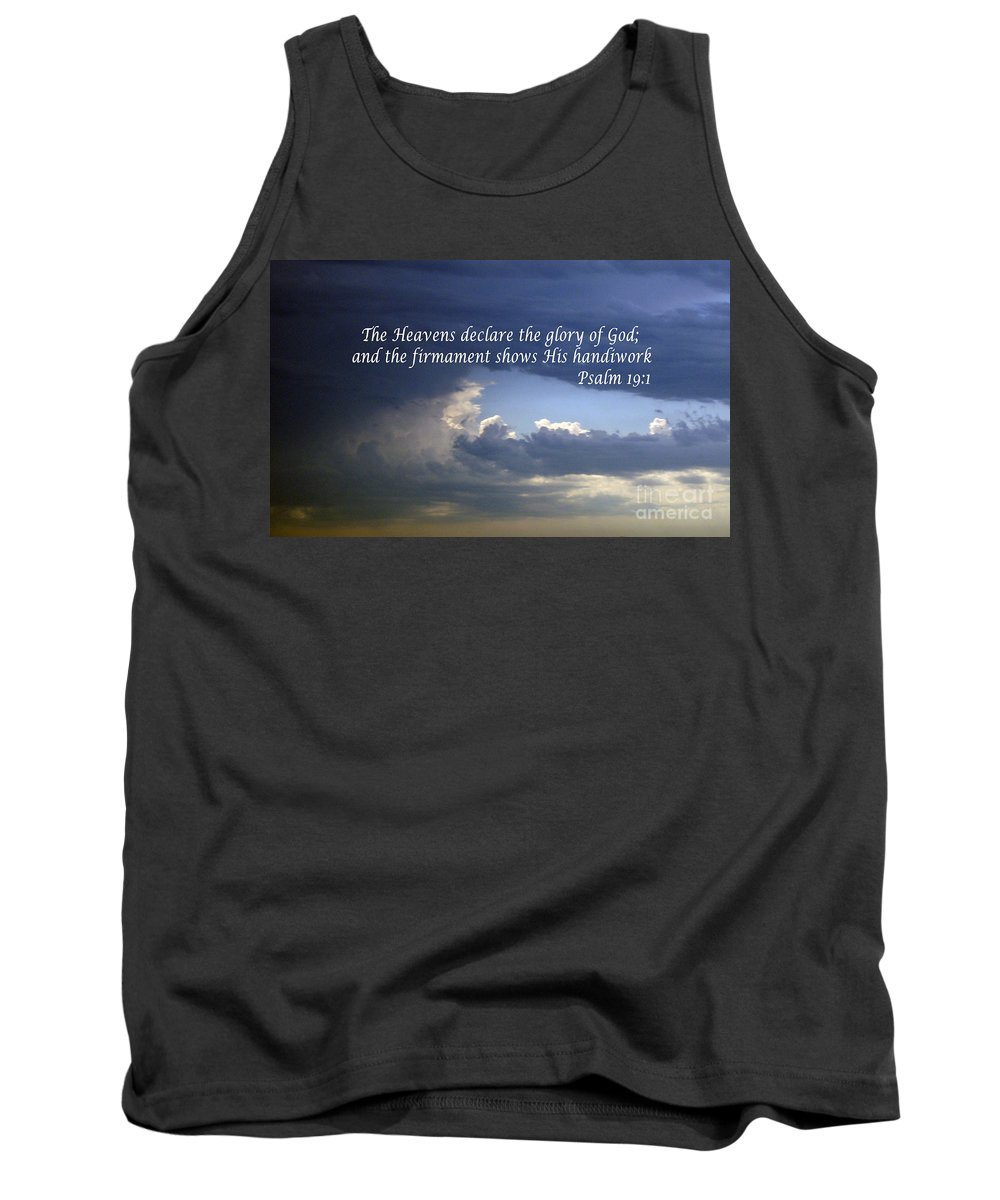 Bible Tank Top featuring the photograph Glory To God  Psalm 10 1 by Barb Dalton