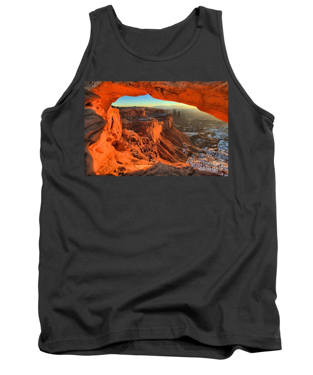 Mesa Arch Sunrise Tank Top featuring the photograph Glowing Photo Frame by Adam Jewell