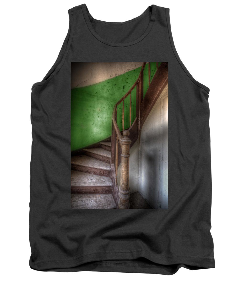 Urbex Tank Top featuring the digital art Going Green by Nathan Wright