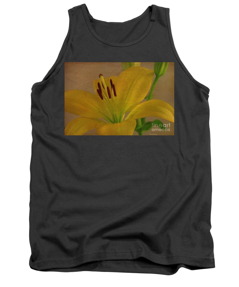 Lilly Tank Top featuring the photograph Golden One by Deborah Benoit