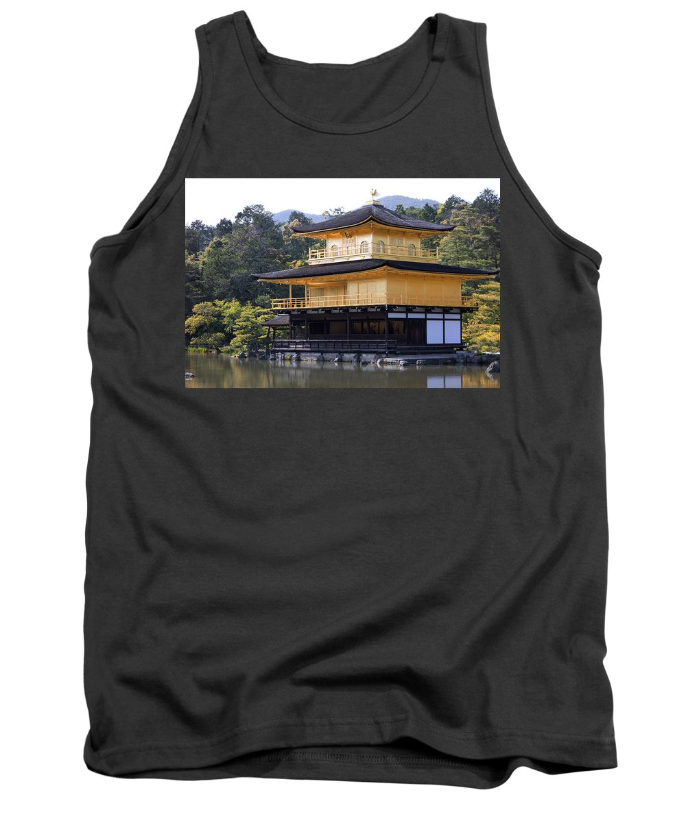 Kyoto Tank Top featuring the photograph Golden Pavilion Kyoto by Daniel Hagerman