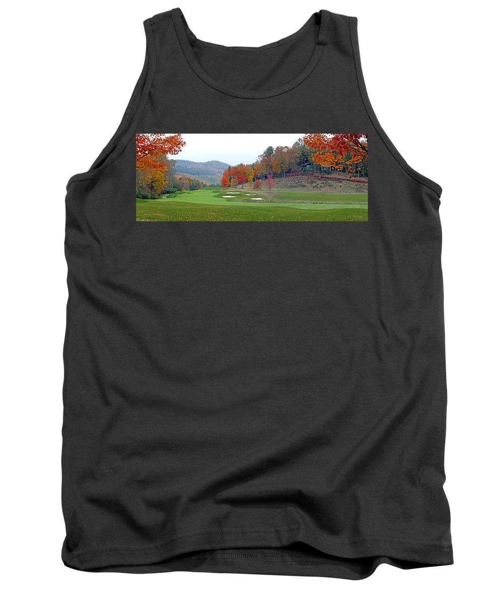 Duane Mccullough Tank Top featuring the photograph Golf Course At Lake Toxaway by Duane McCullough